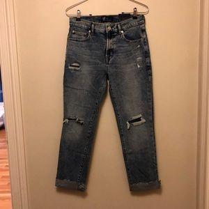 NWT GAP girlfriend ripped jeans